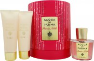 Image of Acqua di Parma Peonia Nobile Gift Set 100ml EDP + 75g Body Cream + 75ml Shower Gel
