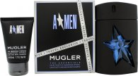 Image of Thierry Mugler A*Men Gift Set 100ml EDT Refillable + 50ml Shower Gel