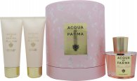 Image of Acqua di Parma Rosa Nobile Gift Set 100ml EDP + 75ml Shower Gel + 75ml Body Creme