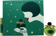 Image of Nina Ricci Bella Gift Set 80ml EDT + 4g Red Lipstick