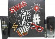 Image of Carolina Herrera 212 VIP Black Gift Set 100ml EDT + 100ml Shower Gel + 10ml EDT