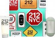 Image of Carolina Herrera 212 NYC Gift Set 100ml EDT + 100ml Body Lotion