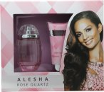 Alesha Dixon Rose Quartz Gift Set 100ml EDT  100ml Body Lotion