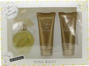 Nina Ricci Lair Du Temps Gift Set 100ml EDT  100ml Body Lotion  100ml Shower Gel
