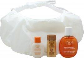 Clarins Sunshine Fragrance Eau Ensoleillante Gift Set 100ml Eau Fraiche 50ml Body Lotion 30ml Liquid Bronze Self Tanning