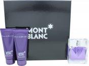 Mont Blanc Femme Gift Set 75ml EDT  100ml Body Lotion  100ml Shower Gel