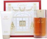 Cartier Must de Cartier Gift Set 100ml EDT  100ml Body Lotion