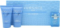 Versace Man Eau Fraiche Gift Set 5ml EDT  25ml Shower Gel  25ml Aftershave Balm