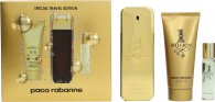 Paco Rabanne 1 Million Gift Set 100ml EDT Spray  100ml Shower Gel  15ml EDT Spray