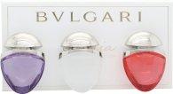 Bvlgari Omnia Collection Jewel Charm Coffret Gift Set 15ml EDT Omnia Crystalline  15ml EDT Omnia Coral  15ml EDT Omnia Amethyste