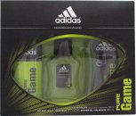 Adidas Pure Game Gift Set 50ml EDT  150ml Body Spray  250ml Shower Gel