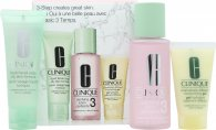 Image of Clinique 3-Step Skincare Gift Set 50ml Liquid Facial Soap Oily Skin Formula + 100ml Clarifying Lotion 3 Combination Oily + 30ml Dramatically Different Moisturizing Gel Combination Oily To Oily