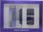 Paco Rabanne Ultraviolet Man Gift Set 100ml EDT  75ml Deodorant Stick