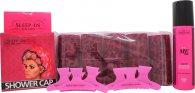 Sleep In Rollers Girls Night In Gift Set 10 Rollers  250ml Body Soak  Shower Cap
