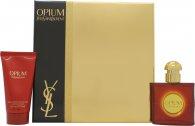 Yves Saint Laurent Opium Gift Set 30ml EDT  50ml Body Moisturizer