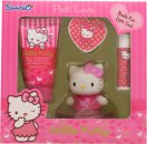 Hello Kitty Pink Love Gift Set 50ml Body Lotion  20g Bath Fizzer  4.5g Lip Balm