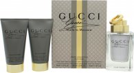Gucci Made to Measure Gift Set 90ml EDT Spray  50ml Aftershave Balm  50ml All Over Shampoo
