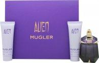 Thierry Mugler Alien Gift Set 30ml EDP Refill  50ml Body Lotion  50ml Shower Gel