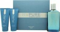 Roberto Verino RV Pure Gift Set 150ml EDT  100ml Shower Gel  100ml Aftershave Balm
