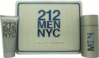 Carolina Herrera 212 Men Gift Set 100ml EDT  100ml Shower Gel