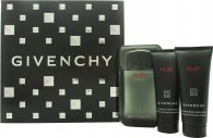 Givenchy Play Intense Gift Set 100ml EDT  75ml Shower Gel  75ml After Shave Gel