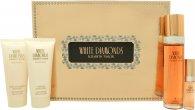 Elizabeth Taylor White Diamonds Gift Set 100ml EDT  100ml Body Lotion  100ml Shower Gel  15ml EDP