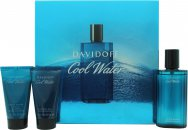 Davidoff Cool Water Gift Set 75ml Aftershave  50ml Shower Gel  50ml Aftershave Balm