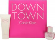 Calvin Klein Downtown Gift Set 30ml EDP  100ml Shower Gel