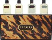 Aramis Miniature Gift Set 7ml Aramis EDT  7ml Aramis Aftershave  7ml Black EDT  7ml Voyager EDT