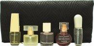 Estee Lauder Mini Set Gift Set 4ml Pleasures  4ml Moderne Muse  4.7ml Beautiful  4ml Sensuous Nude  4ml Pure White Linen  Cosmetics Bag