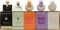 Bvlgari Miniatures Gift Set 5 x 5ml  Jasmin Noir EDP  Mon Jasmin Noir EDT  Omnia Indian Garnet EDT  Omnia Amethyste EDT  Omnia Crystalline EDT