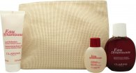 Clarins Eau Dynamisante Gift Set 100ml Eau Dynamiste EDT  100ml Body Lotion  50ml Shower Gel  Bag